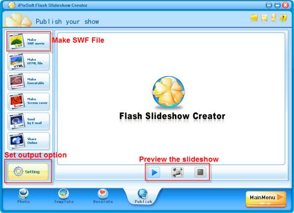 Organize Slideshow Photos