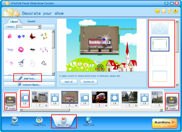 Make a Advertisement Presentation for Commercial Website