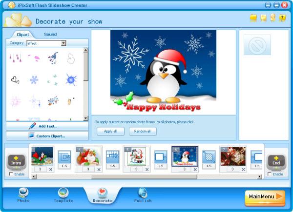 برنامج iPix Flash Slideshow Creator 1 6 1 برنامج عمل البوم صور فلاش وعمل اطارات على ا