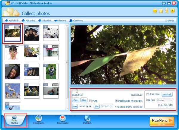 how to make photo and video slideshow